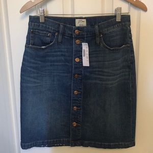 NWT J Crew Denim Skirt